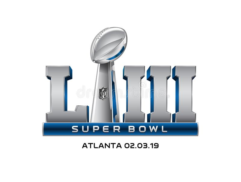 Super Bowl Logo Vector Illustration Editorial Illustrative illustration libre de droits