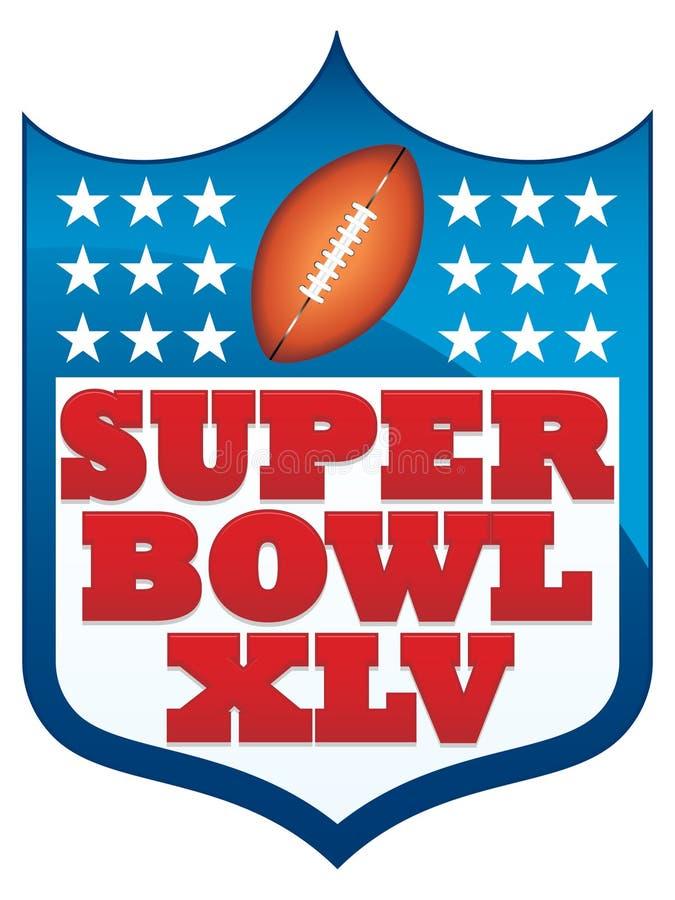 Super Bowl XLV 2011 Badge vector illustration