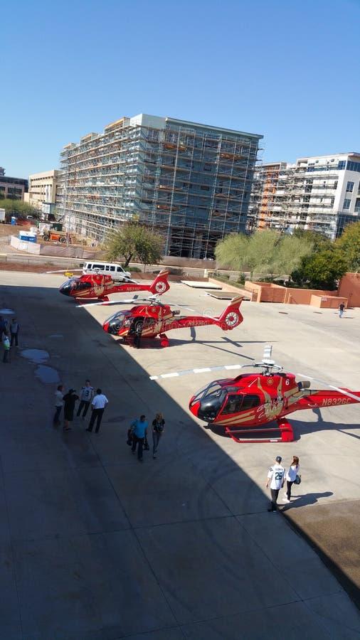 Super BowlHeli Taxi Service eurocopter royaltyfri fotografi