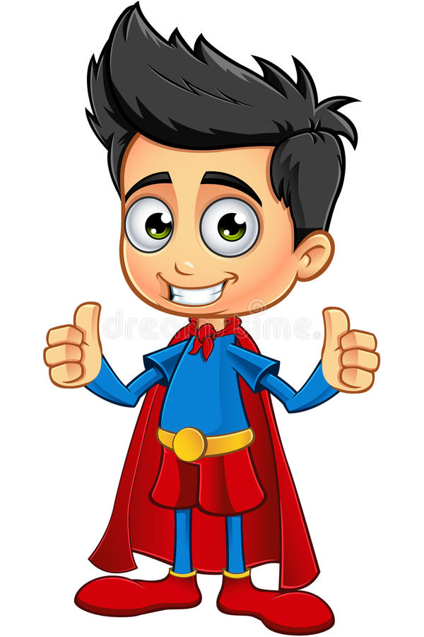 Super Boy Characterl royalty free illustration