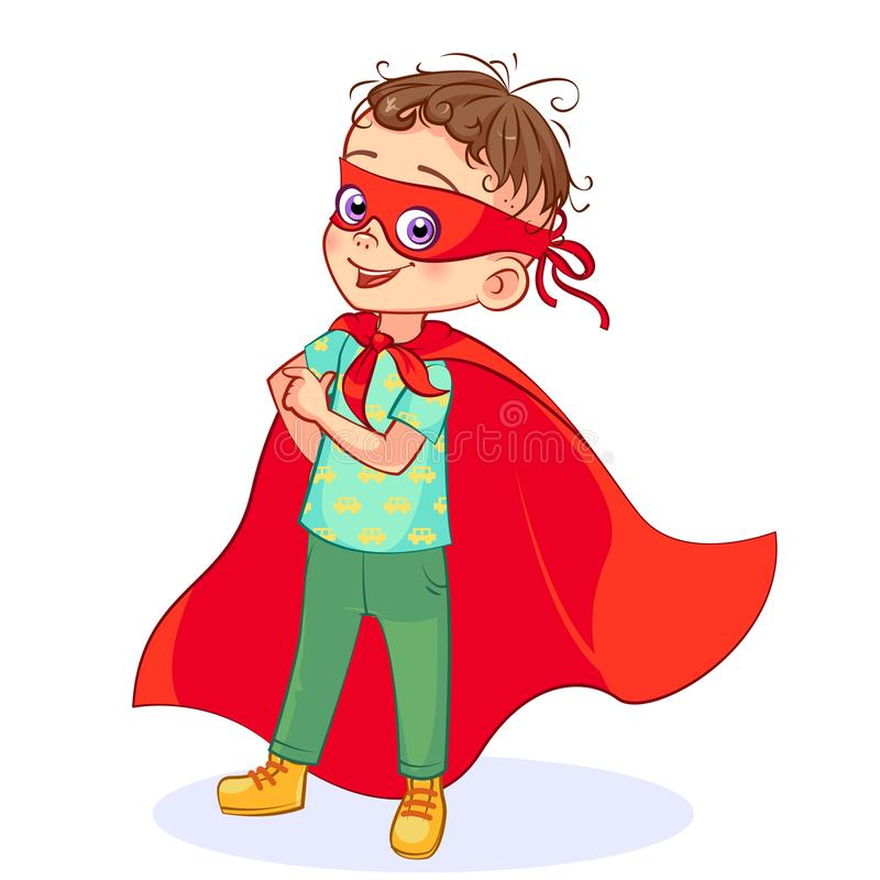 Super boy playful royalty free stock photo