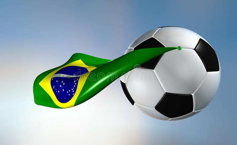 super Brazil futbol royalty ilustracja