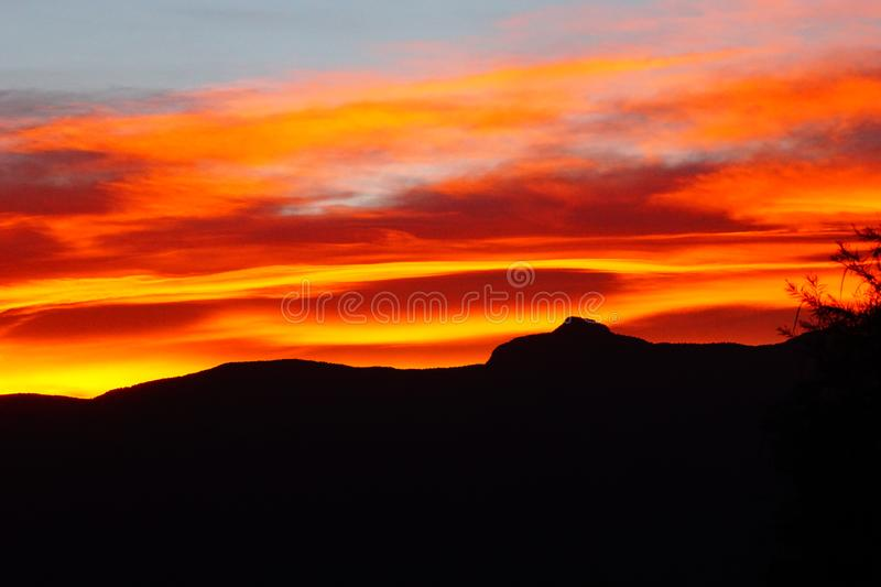 Super bright sunrise. A picture of a super bright colored sunrise in New Mexico royalty free stock photos
