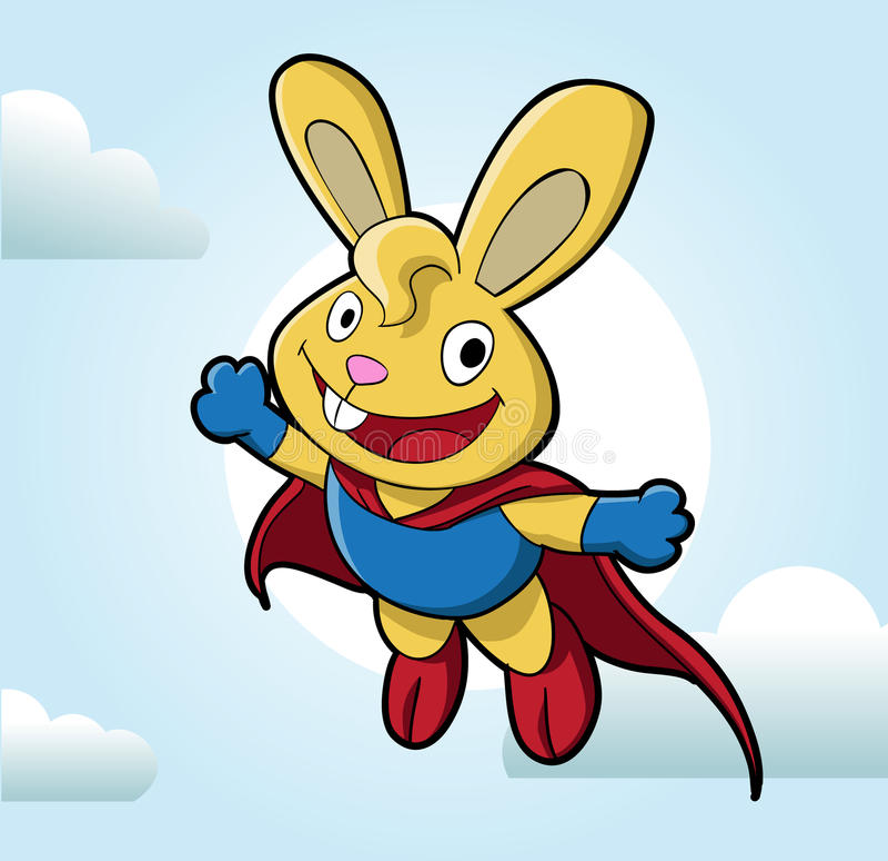 Download Super bunny stock vector. Illustration of rabbit, wing - 23493897