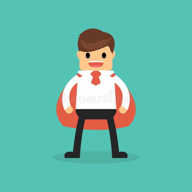 Super Businessman on flat style. Super Businessman on flat style royalty free illustration