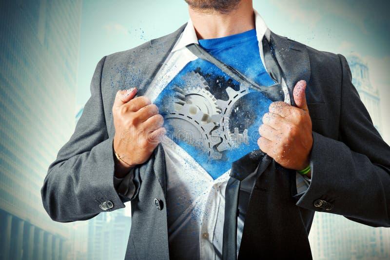 Super Businessman Mechanism Stock Photo