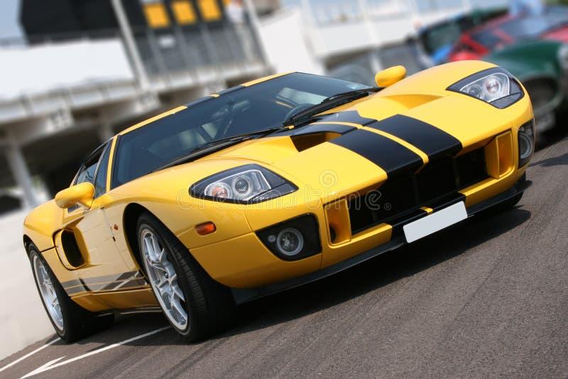 Super car at race circuit royalty free stock photos