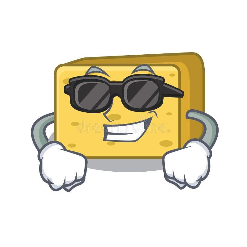 Super chłodno charakteru gouda świeży ser royalty ilustracja