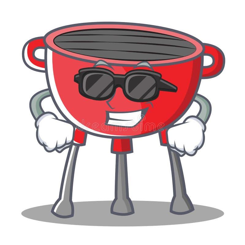 Super Chłodno grilla grilla postać z kreskówki ilustracji