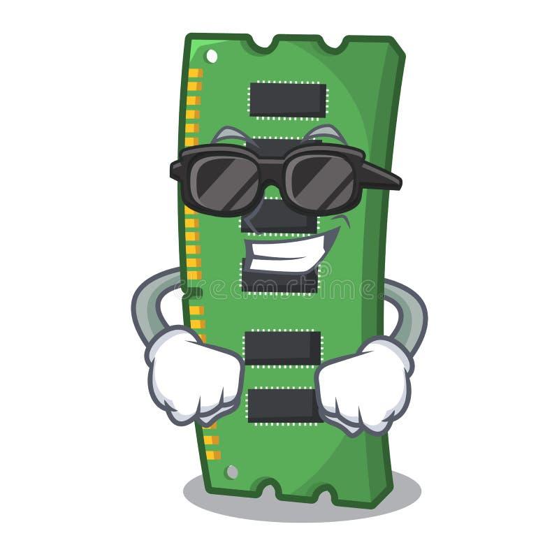 Super chłodno RAM karta pamięci maskotka kształt ilustracja wektor