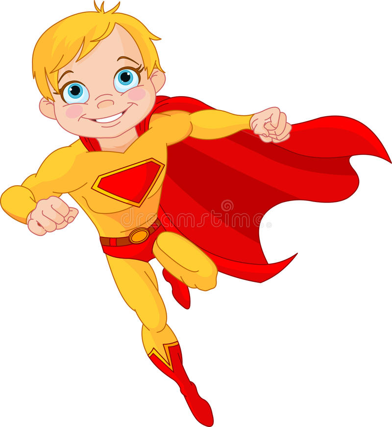 Super Chłopiec royalty ilustracja