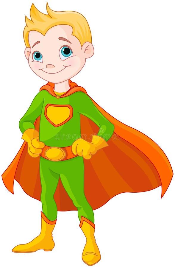 Super chłopiec ilustracja wektor