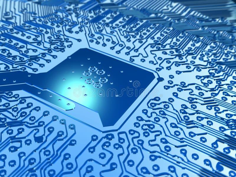 Download Super chip stock illustration. Image of computer, background - 4442133