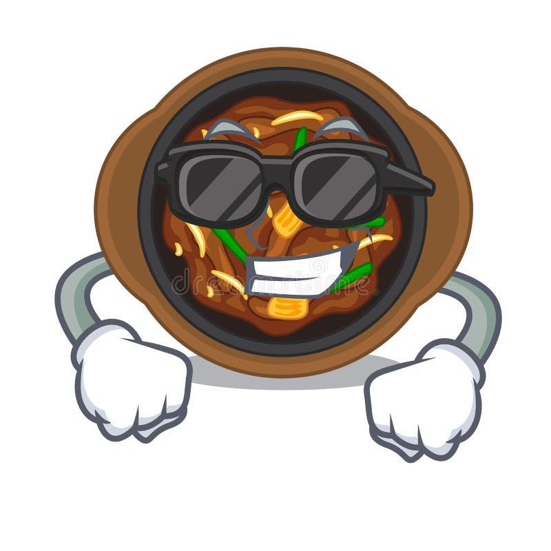 Super cool bulgogi in a the bowl cartoon. Vector illustration vector illustration