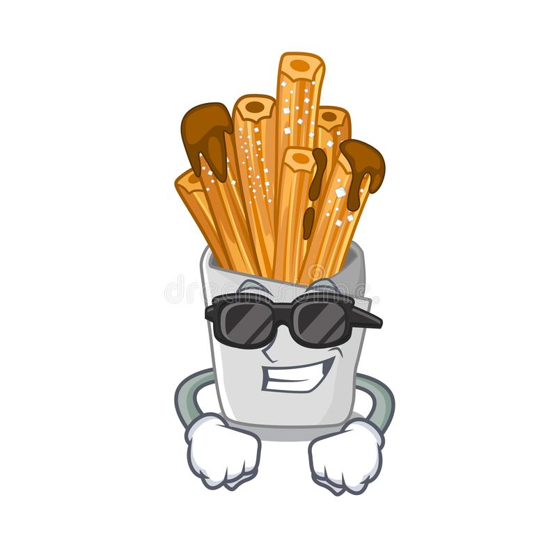 Super cool churros isolated with in the cartoon. Vector illustration vector illustration
