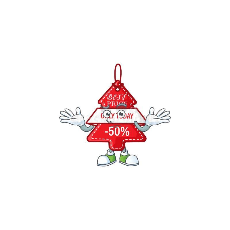 Super Cool Grinning christmas лучший ценник на талисман бесплатная иллюстрация