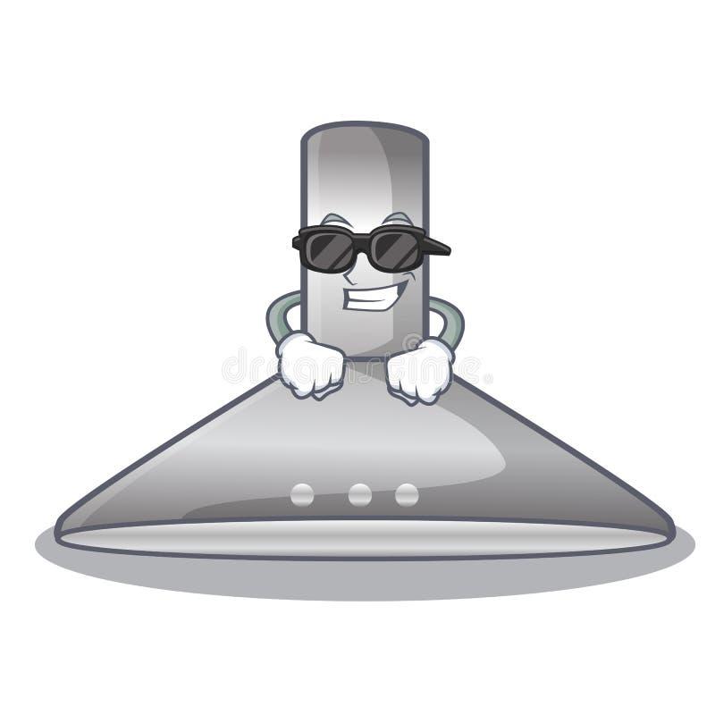 Super cool kichen hood in the mascot shape. Vector illustration stock illustration