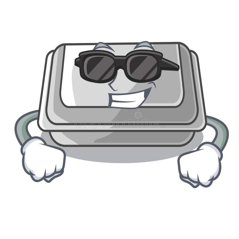 Super cool plastic box in the mascot shape. Vector illustration royalty free illustration