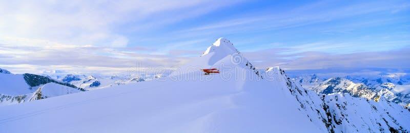 Super Cub Piper bush airplane,. Wrangell-St. Elias National Park, Alaska royalty free stock photos