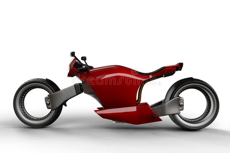 Super-custon Motorrad vektor abbildung