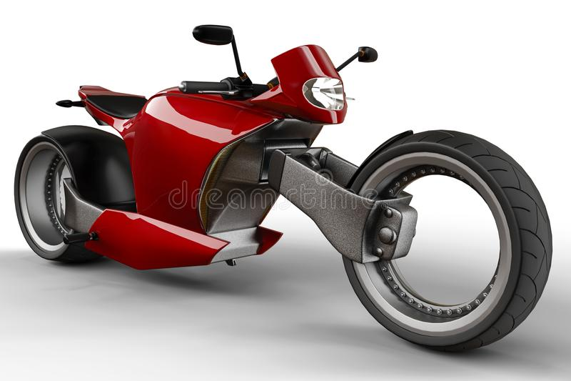 Super-custon Motorrad lizenzfreie abbildung