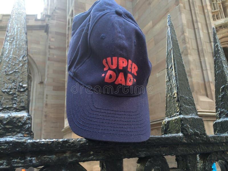 Super dad stock photo