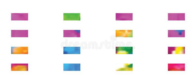 Super die achtergronden in een reeks worden geassembleerd vector illustratie