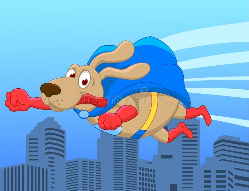 Download Super dog flying over city stock vector. Image of humor - 23816134