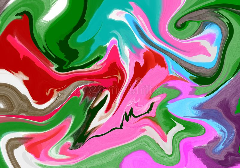 Super duper gorgeous abstract painting. Liquid paint technique background. Marble effect painting. Background for. Wallpapers, posters, cards, invitations vector illustration