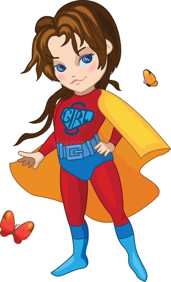 Super dziewczyna wektoru ilustracja royalty ilustracja