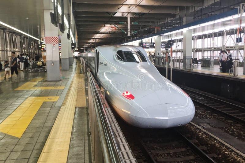 Super express in Japan hakataku station. royalty free stock photography