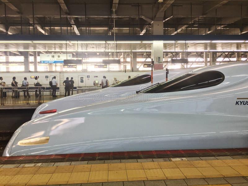 Super express in Japan hakataku station. royalty free stock images