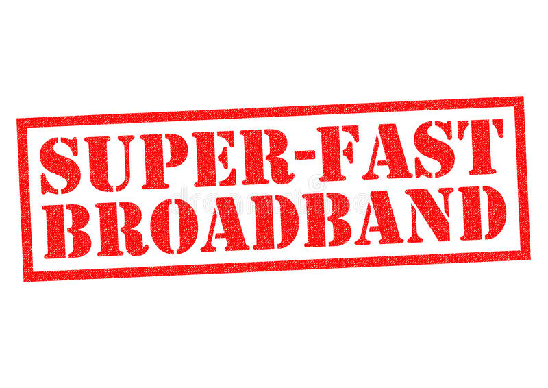 SUPER-FAST BREEDBAND stock illustratie