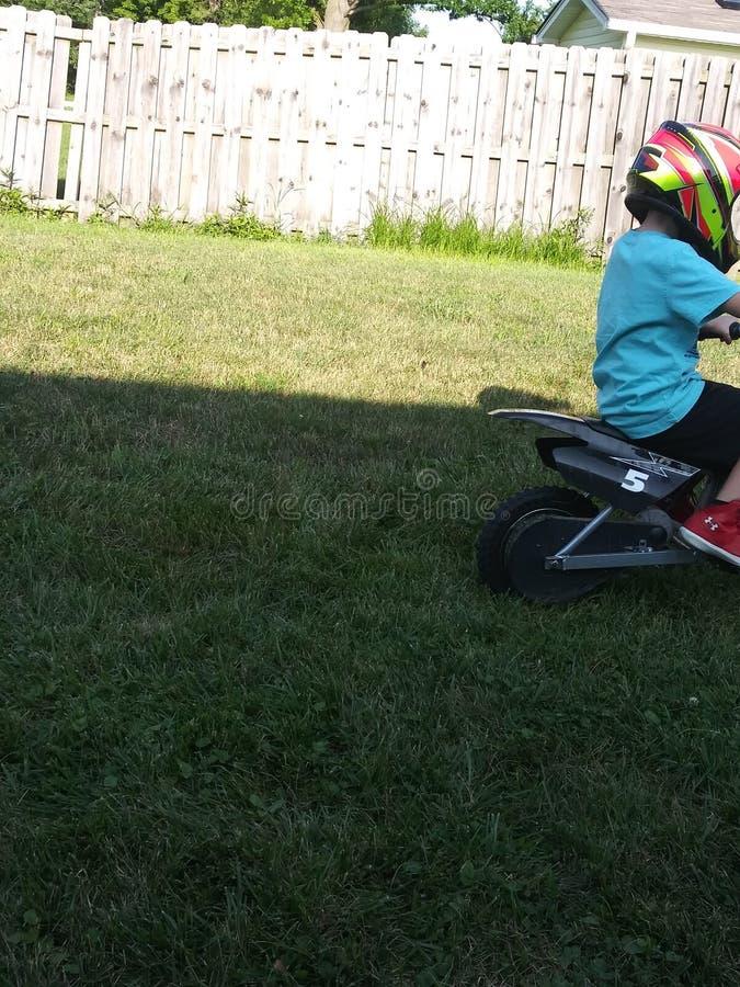 Super Fast Dirt bike Kids stock photography