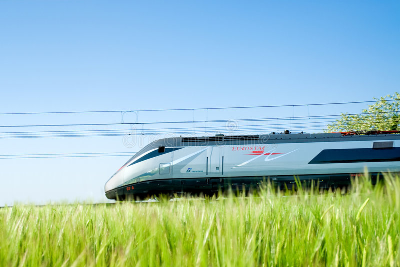 Super fast passenger train royalty free stock images