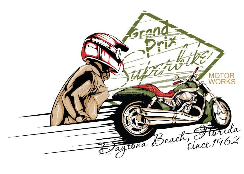 Super fietsruiter stock illustratie