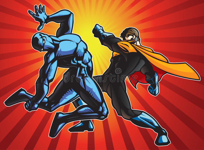 Super Fight royalty free illustration