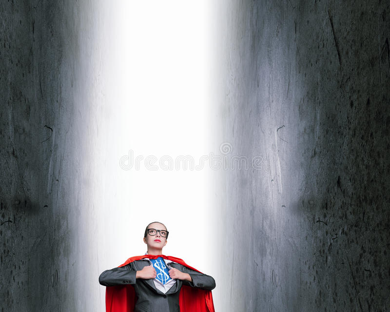 She is super financier photos libres de droits
