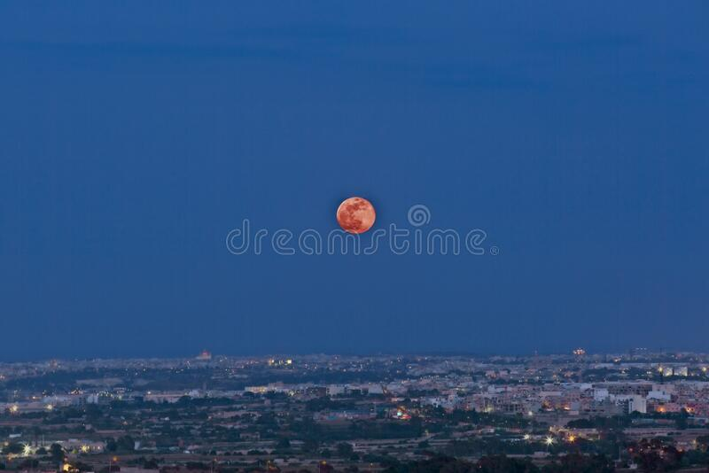 Super Flower Moon stock photography