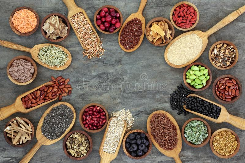 Super Food Selection stock photography