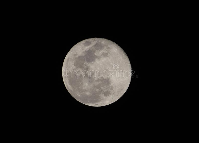Super full moon. 8 April 2020 Super full moon tonight,The day the moon is closest to the earth royalty free stock images