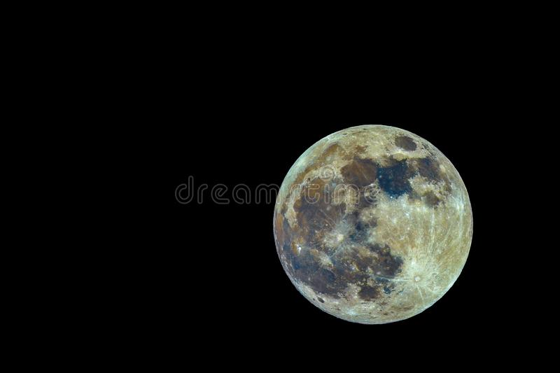 Super Full Moon stock photography
