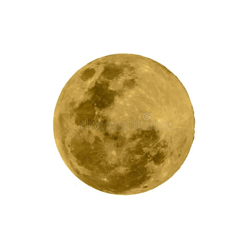 Super full moon isolated with white background. royalty free stock photo