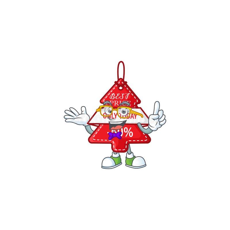 Super Funny Geek смарт christmas лучший ценник на талисман иллюстрация штока