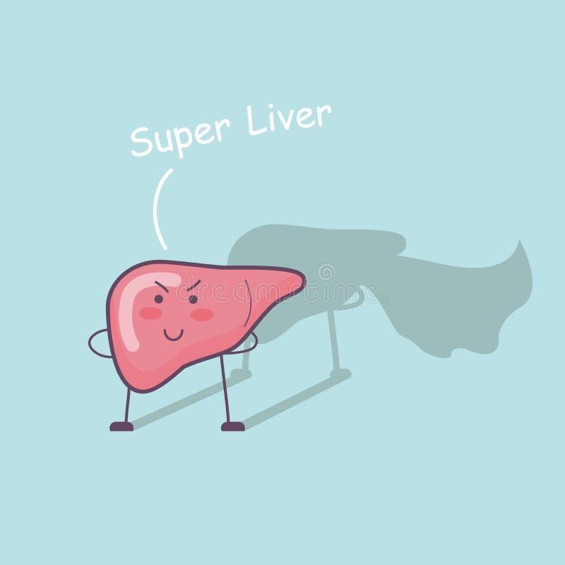 Super gezondheidslever vector illustratie