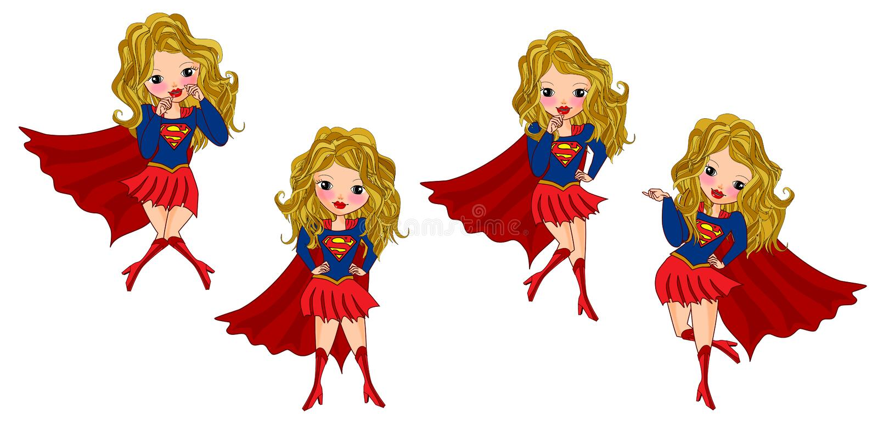 Super girl concept stock illustration