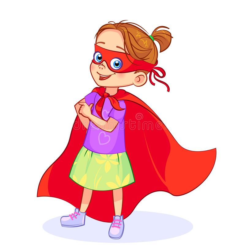 Super girl playful stock image