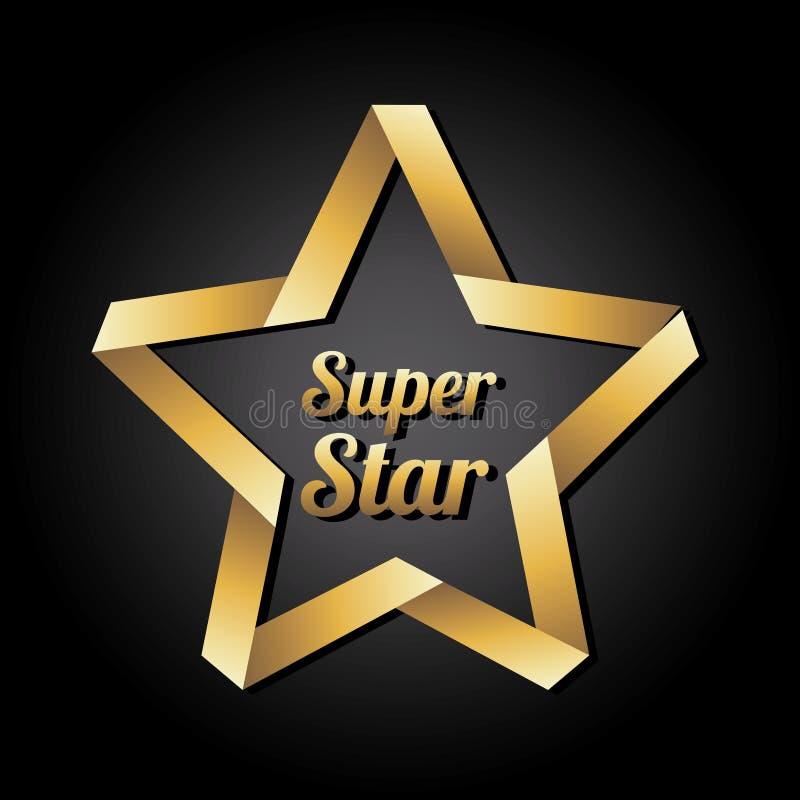 Super gwiazda ilustracja wektor