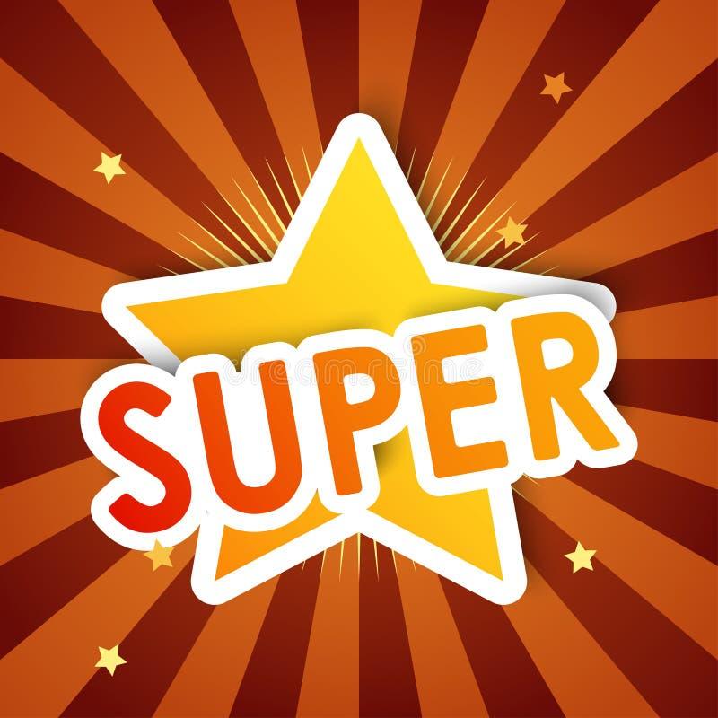 Super gwiazda, tło ilustracja wektor