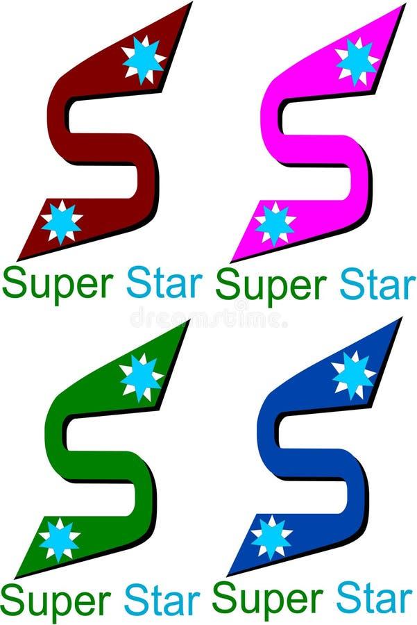Super gwiazdowy logo ilustracja wektor